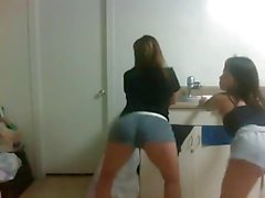 2 Sexy Wasted Young Asian Girls Shaking Their Asses 3