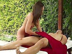 Spunk faced masseuse blow