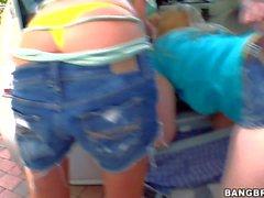 Sunny Lane Lieben Outdoor- Orgie mit ihren Freund