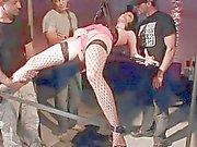 Three guys fucking hot slavegirl