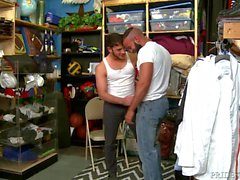 Horny Boy Dicking Hairy Cubano Ass At Work!!!