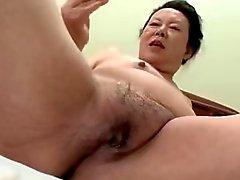 Japanischen Vollweiber Granny Shinos in Moriyama 66 Jahre alt H- 0930