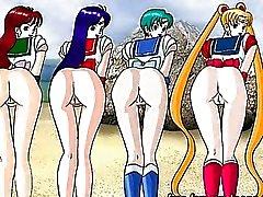 Dessins de dessins animés interracial putain de cul