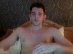 Bel ragazzo masturbandosi per la struttura Queen