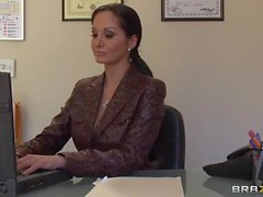 Big titted secretary Ava Addams in heat