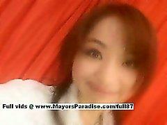 Miina mükemmel bir bir Çinli kız yaladı nipeli gets