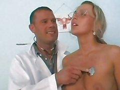 horny whore fucks her gynecologist