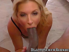Mother I'd Like To Fuck receive interracial oral-sex
