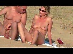 Vid oculto da mulher francesa na praia parte 3