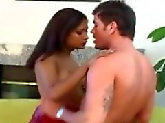 Indian Babe Loves Some Hard White Dick