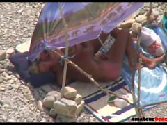 Nudist reife Frau geben Wichsen am Strand Voyeur