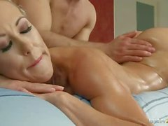 Hot bodied blonde Brandi Love gets her perfect Ass licked by masseur