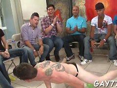 Ein gehäuften Portion sexy Stripper große Jock