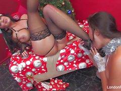 Diversión de Navidad con London Keyes y Jayden Jaymes