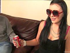 Blind girl Ashli Orion gives Handjob