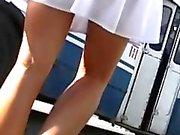 Upskirt Pink Thong Teen On Bus