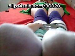 Socke Verehrung einer und Schlaf Schülerin Füße Fußfetisch gefesselt