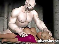 Angstaanjagende zombie neukt 3D Babe !
