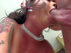 Dana Vespoli gets her asian throat heavily fucked