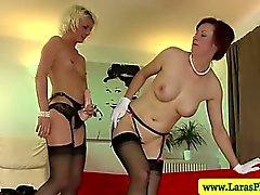 Mature stocking lesbians sucking pussy