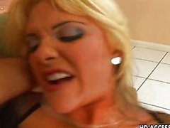 Sexy Carmel Moore is getting her pussy torn