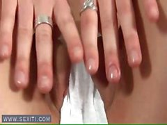 Engelhaften Teen Finger rasieren twat