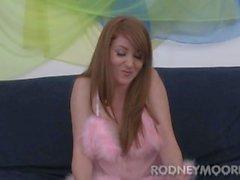 Tesão Cabeludo meninas Nikki Rhodes Redhead Hairy bichano fodido e Facial