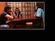 Hidden camera films a couple of masseuses doing home massag