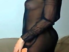 Amazing latina is dancing nice
