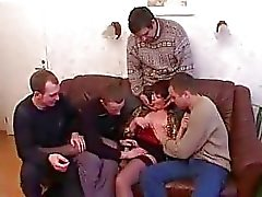 Mother and son drunks and fucks with friends after the party