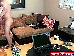 Casting brit girl does anal pov