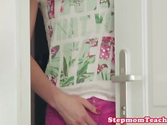 Hairy smalltitted stepmom fucking with teens