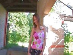 Beautiful Beata girl undressing