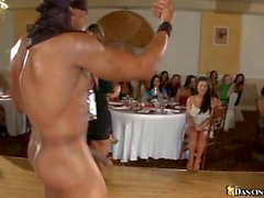 Women are engulfing strippers wang wildly