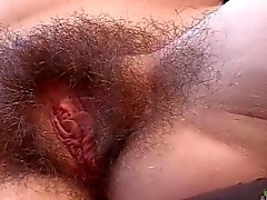Pretty Brunette Clara Brown Shows Off Her Hairy Pussy