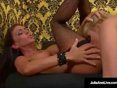 Mega Milf Julia Ann & Jessica Jaymes Lick their Wet Pussies!