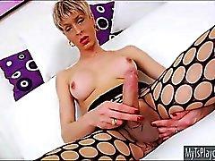 Brazillian TS Anna Hickhiman spielte ihren Arsch und Masturbation