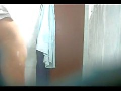 My bro wife caught in my hidden cam hot shower