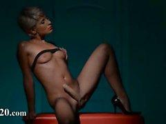 Luxus schätzchen Stripping in Strumpfhose