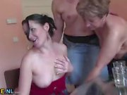 Housewives get wet and wild in hardcore orgy