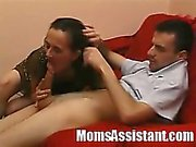 Horny Serbian mom Lucie leases her mature holes a youger guy