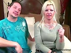 Desperate Amateurs casting Milf Angie escupiendo devine nerviosa mamá esposa