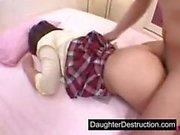 Asian Teen tytär nai vaikea