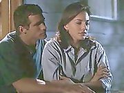 Krista Allen nude having a guy roll over on top of her and