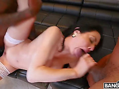 Veronica avluv is rekt by darksome monster jocks in group sex