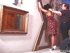 Sexy huisvrouw Rosa is gebonden in touwen part6