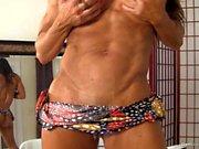 Denise Masino - Miniskirt Muscle Pussy Stuffing - Female Bodybuilder