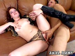 Hot army hoe Ashley Haze fingering her pink asshole on the