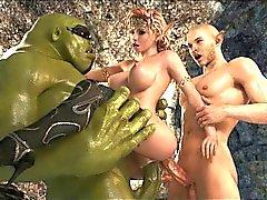Guerre des étoiles en 3D porno!