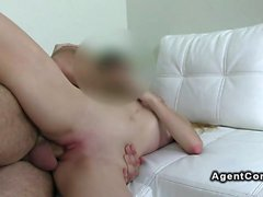 Small tits blonde banged by fake agent